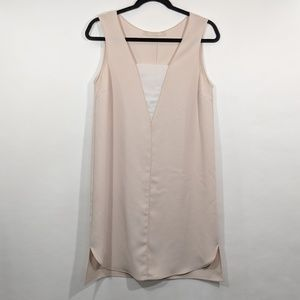 Zara Nude Contemporary Tunic Dress